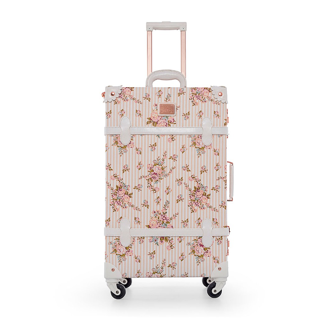 cb94cf9db ProductImage. Ladies Vintage Style Floral Luggage Retro Small Hardside  Suitcase ...