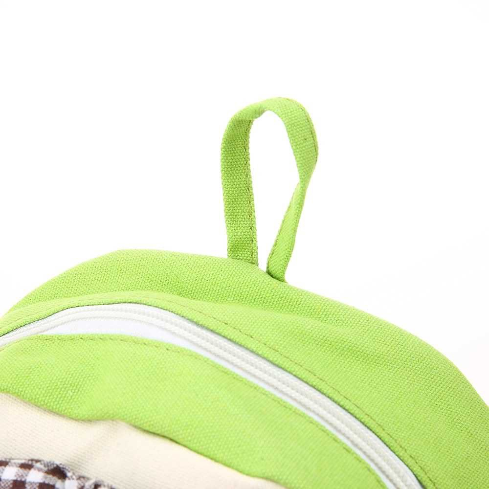 Kids School Bags Backpack Canvas Cute Cartoon Rabbit Children Kindergarten Primary Schoolbags Rose (Light Green)
