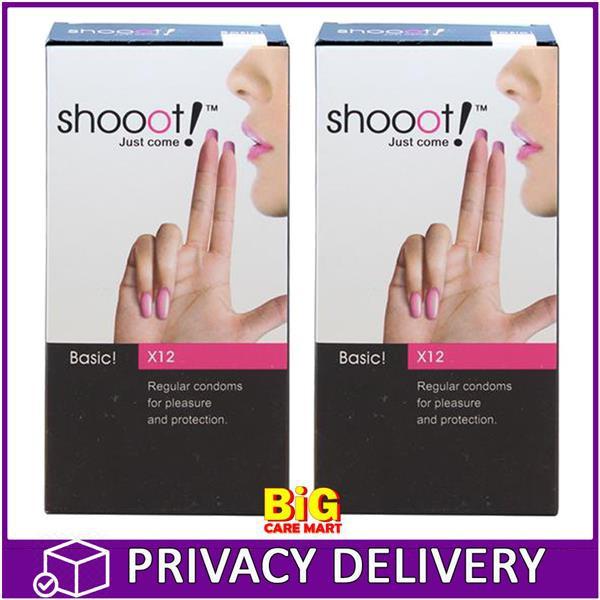 Shooot Condoms Basic Regular 12s X 2box