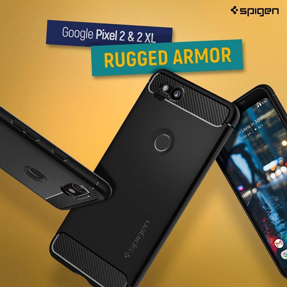 the latest cb79e 5b4a7 Original Spigen Google Pixel 2 / Pixel 2 XL Case Rugged Armor