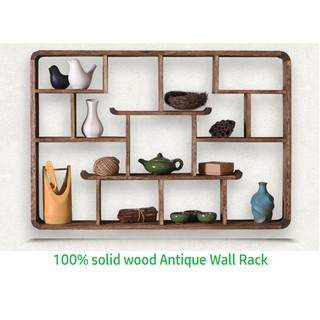 Brilliant Solid Wood Antique Wall Mounted Shelves Diy Wooden Wall Home Remodeling Inspirations Genioncuboardxyz