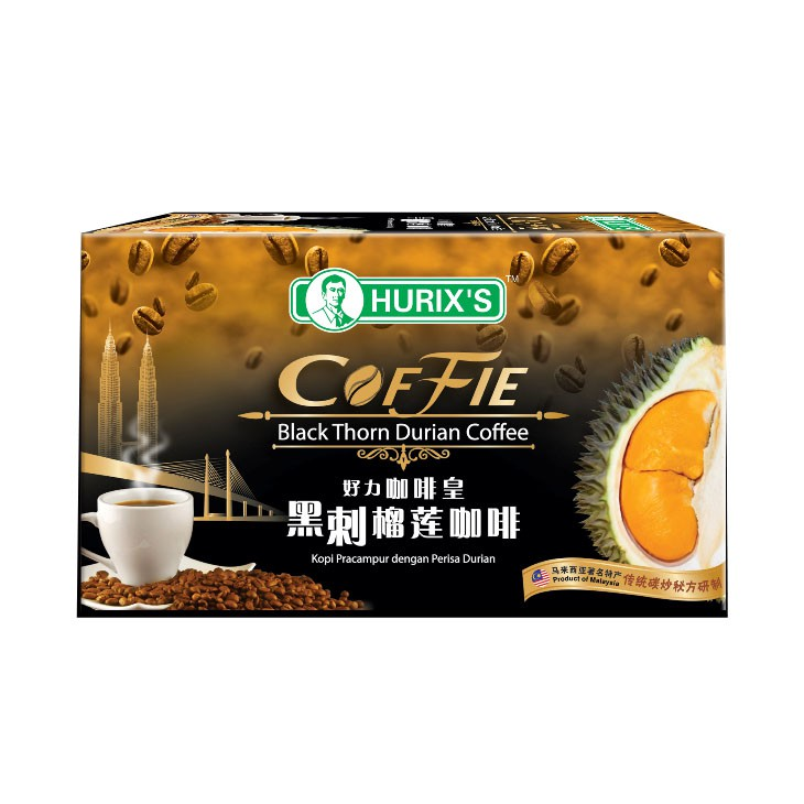 Hurixメs Coffie Black Thorn Durian Coffee (15 Packs)