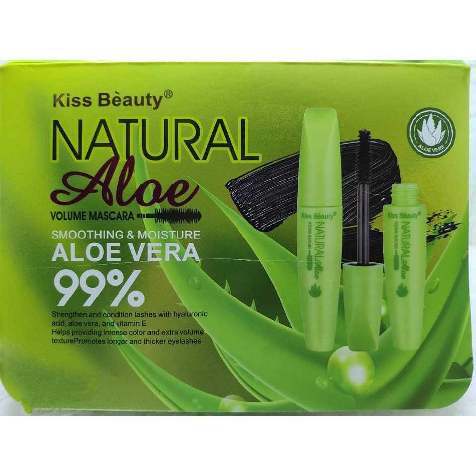 Kiss Beauty Natural Aloe Volume Mascara Smoothing & Moisture Aloe Vera 99% 56640