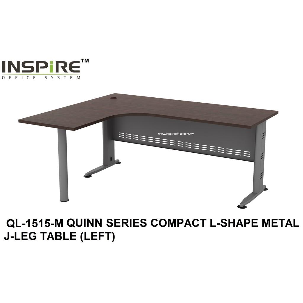 QL-1515-M QUINN SERIES COMPACT L-SHAPE METAL J-LEG TABLE