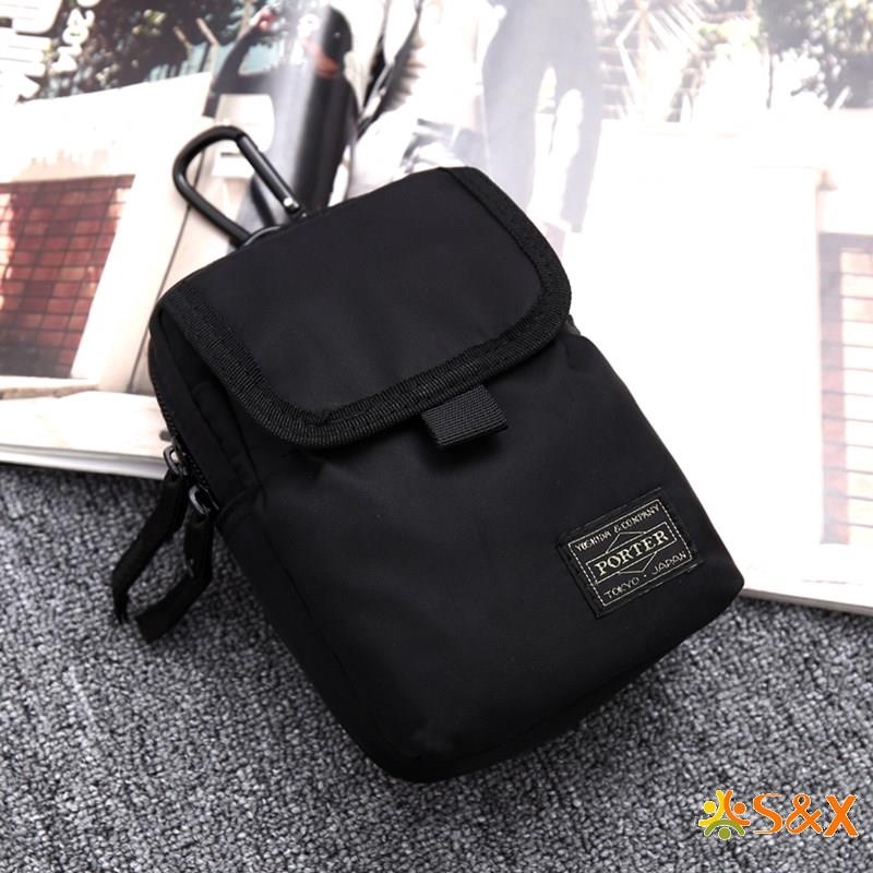 Leather Waist Bun Travel Bag Belt Bags Mobile 7 Zipper Pockets Phone Purse Bags