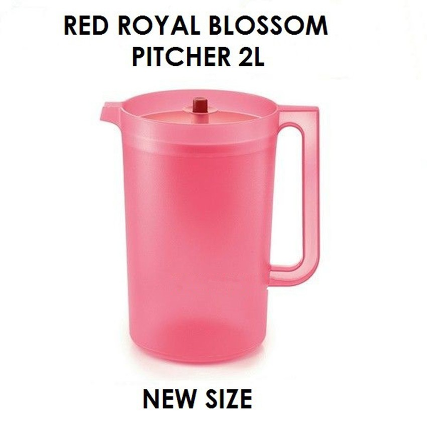 Tupperware Blossom Royal Red/Coral Blooms Pitcher 2L