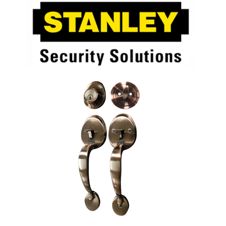 STANLEY PREMIUM SERIES S70711AC S70711SS DOUBLE HANDLE ( 6 MONTH WARRANTY )ENTRANCE HANDLE SET