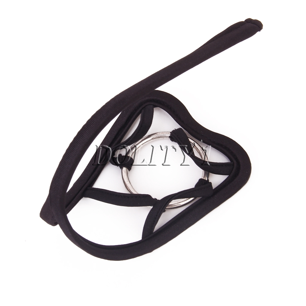 cheap sale designer fashion brand quality Men\'s Sexy Black Opening C-string Thong Invisible Underwear Panty W/Ring
