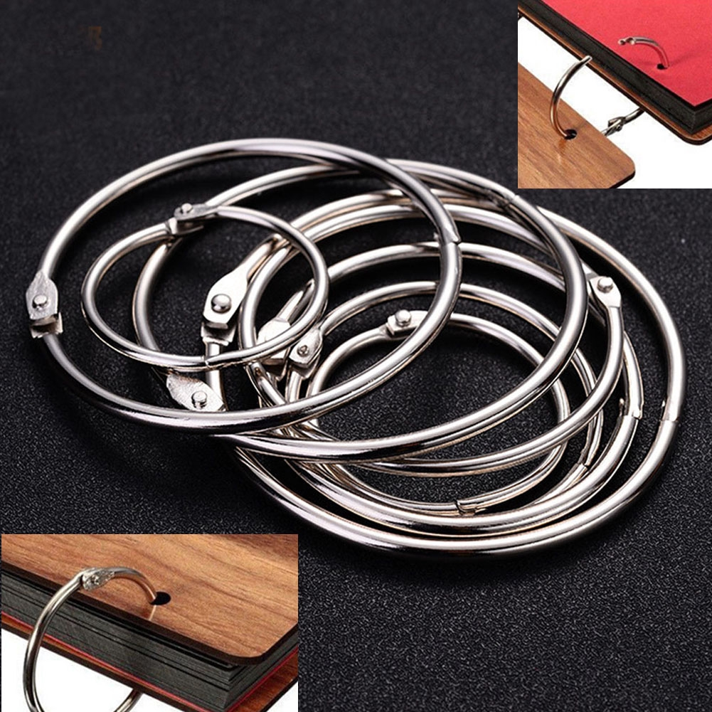 Office Binding Supplies Hearty 50pcs Metal Loose Leaf Ring Staple Book Binder Keychain Circlip Ring 20mm Outer Diameter Office & School Supplies