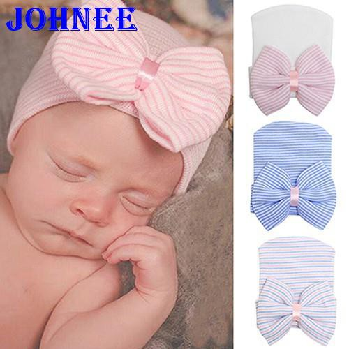Baby Newborn Girl Infant Toddler Bowknot Beanie Cute Hat Hospital Cap Comfy YR