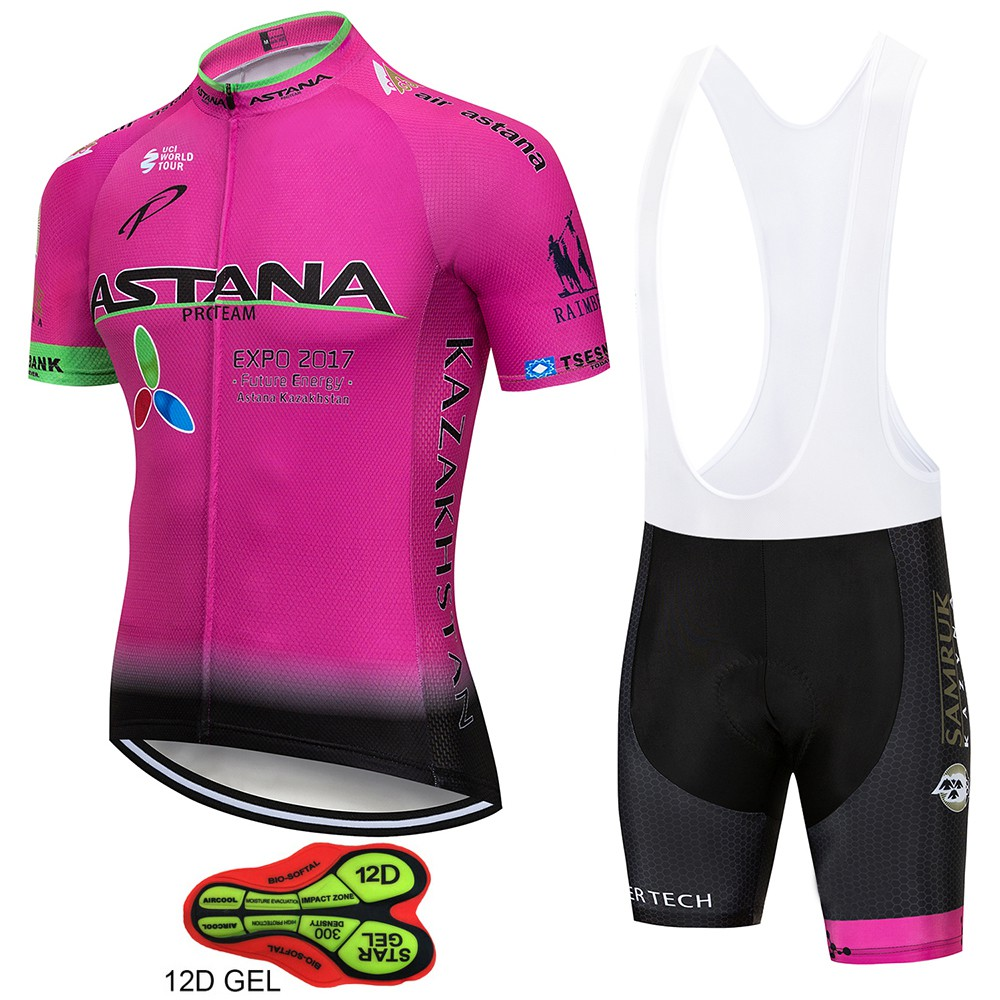 2018 Hot ASTANA Short Sleeve Cycling Jersey pro team sets bicycle cycle  clothing  3f242ab69