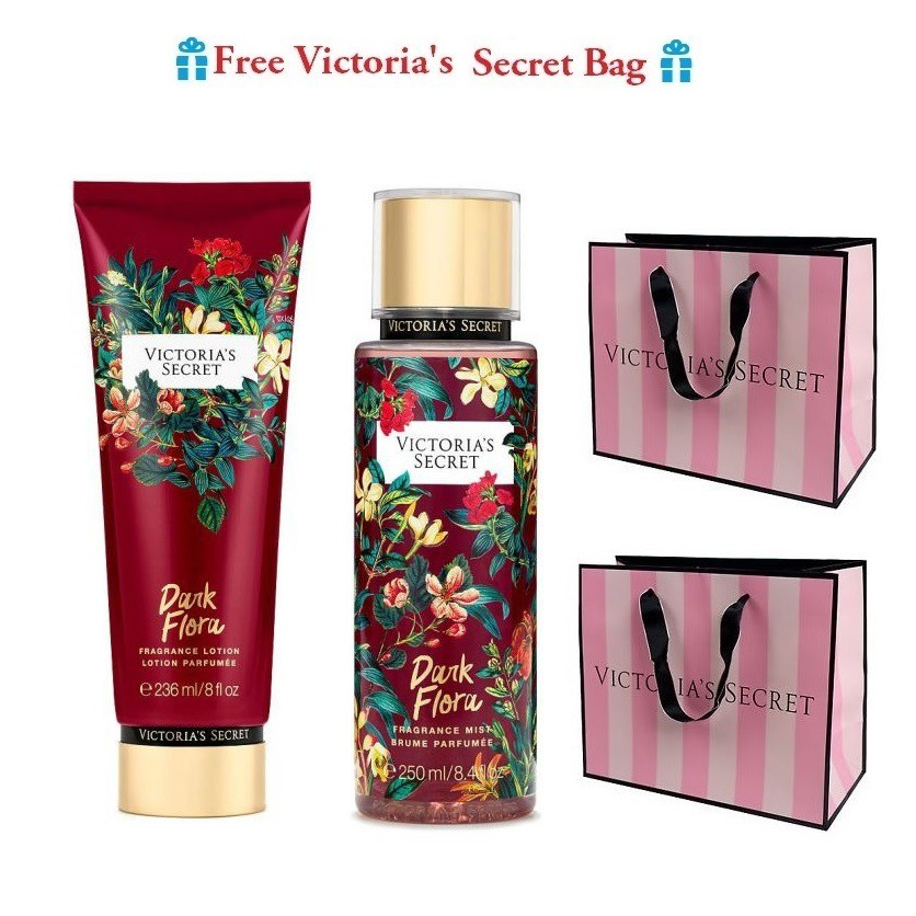 Victoria's Secret Limited Edition Dark Flora Lotion Set