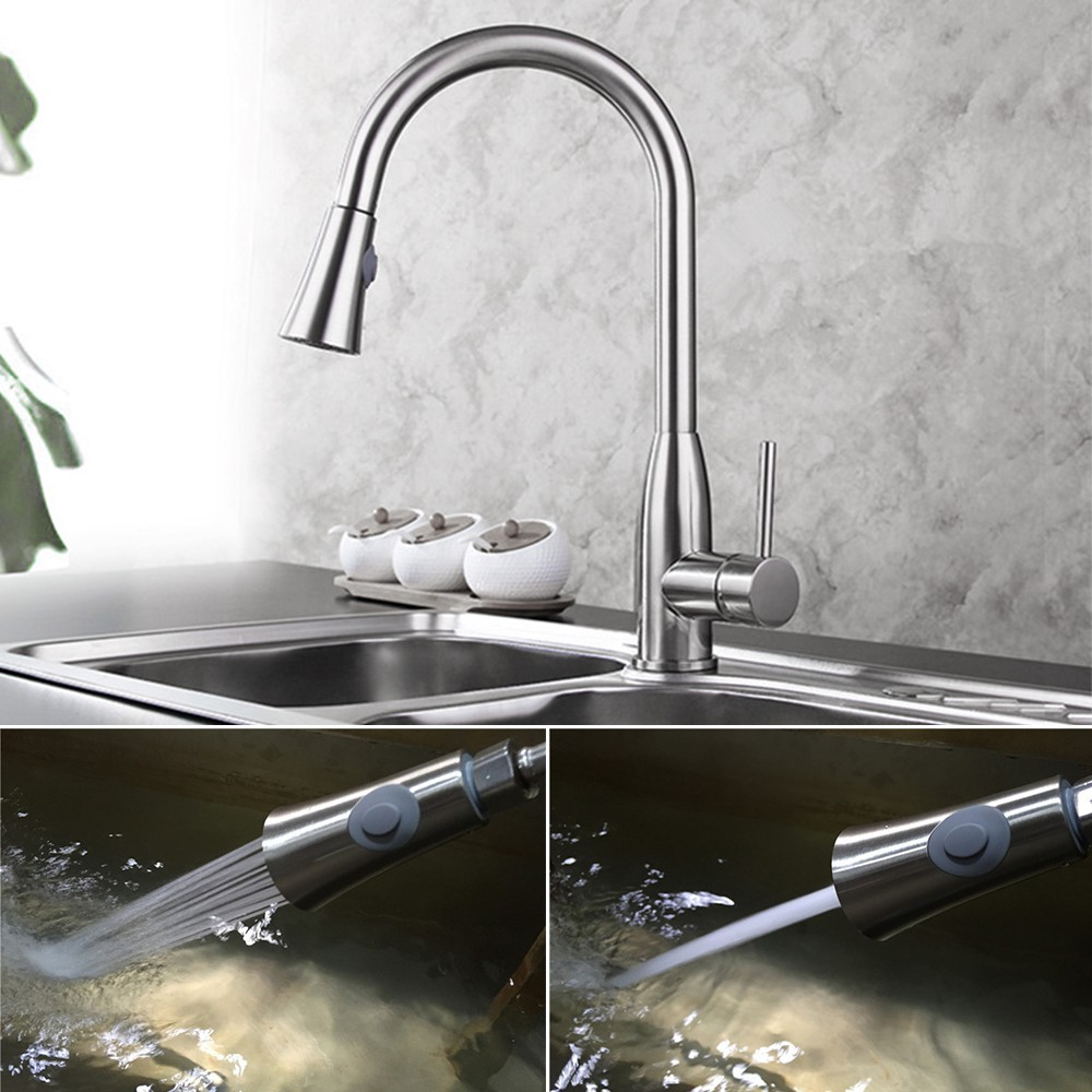 Kdn Bathroom Kitchen Faucet Pull Out Spray Head Universal Replacement Part