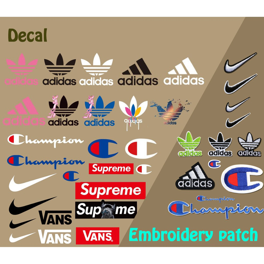 Adidas logo sports wear embroidered iron sew on patch
