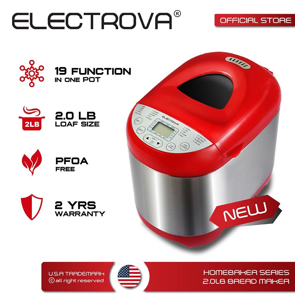 Electrova HomeBaker Series Bread Maker 2.0LB