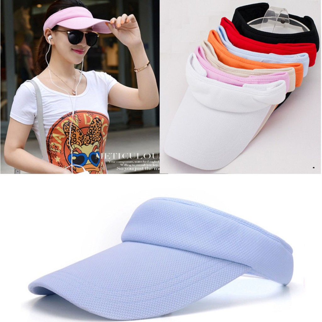 35ef15bd0 YShop Men Women Summer Adjustable Sun Visor Tennis Golf Hat Topless Outdoor  Cap