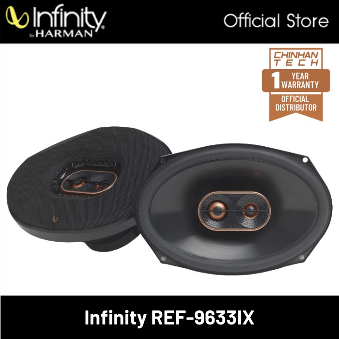 "Infinity Reference REF-9633ix 6""x9"" 3-way car speakers"