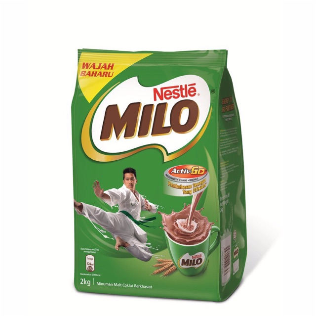 Image result for NESTLÉ MILO ACTIV-GO CHOCOLATE MALT POWDER Soft Pack 2kg x 2 packs