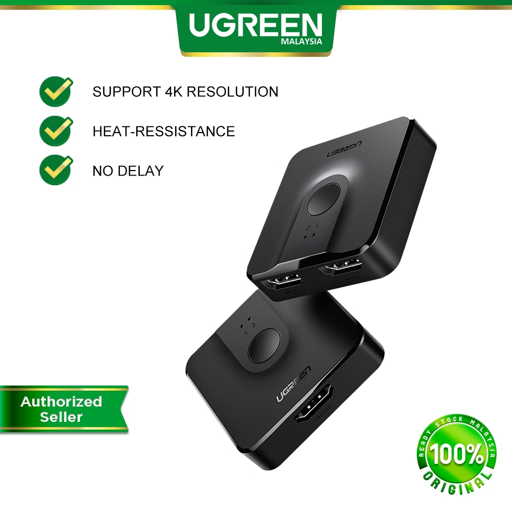 UGREEN HDMI Splitter Switch Bi-Direction 4K 3D HDMI Switcher 2 Input 1 Output Adapter 1 in 2 out Converter PS4 TV Box