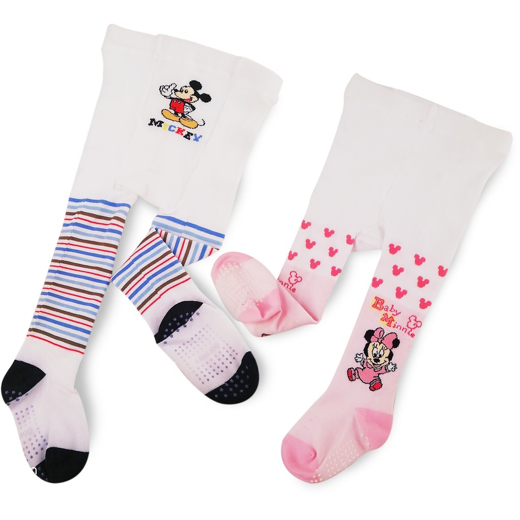 Disney Mickey/Minnie Mouse Cotton Anti Slip Baby Pantyhose Legging (3 - 6 Months)