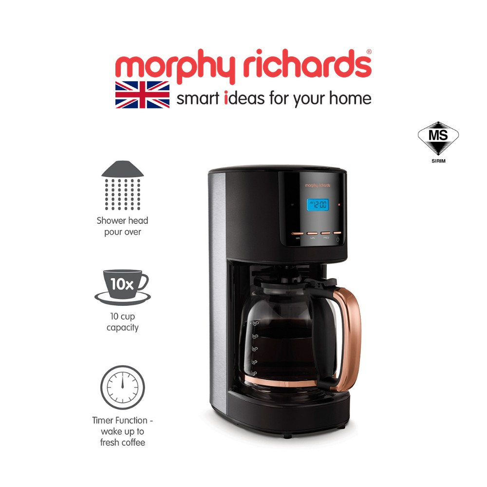 [NEW ARRIVAL] Morphy Richards Coffee Maker | 1.8L Timer Function, Auto Shut Off Function 162030