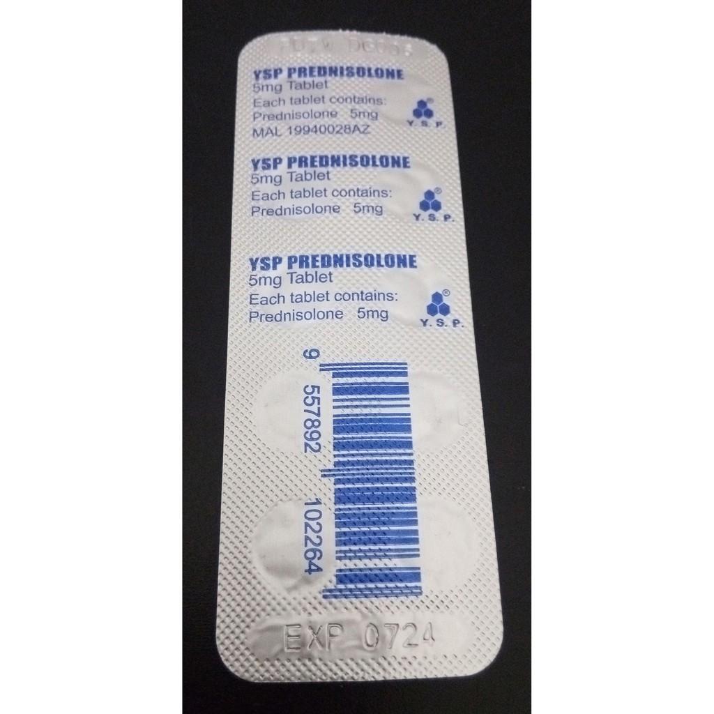 YSP Prednisolone Tablet 5mg 10pcs, Ubat Anti-Alahan