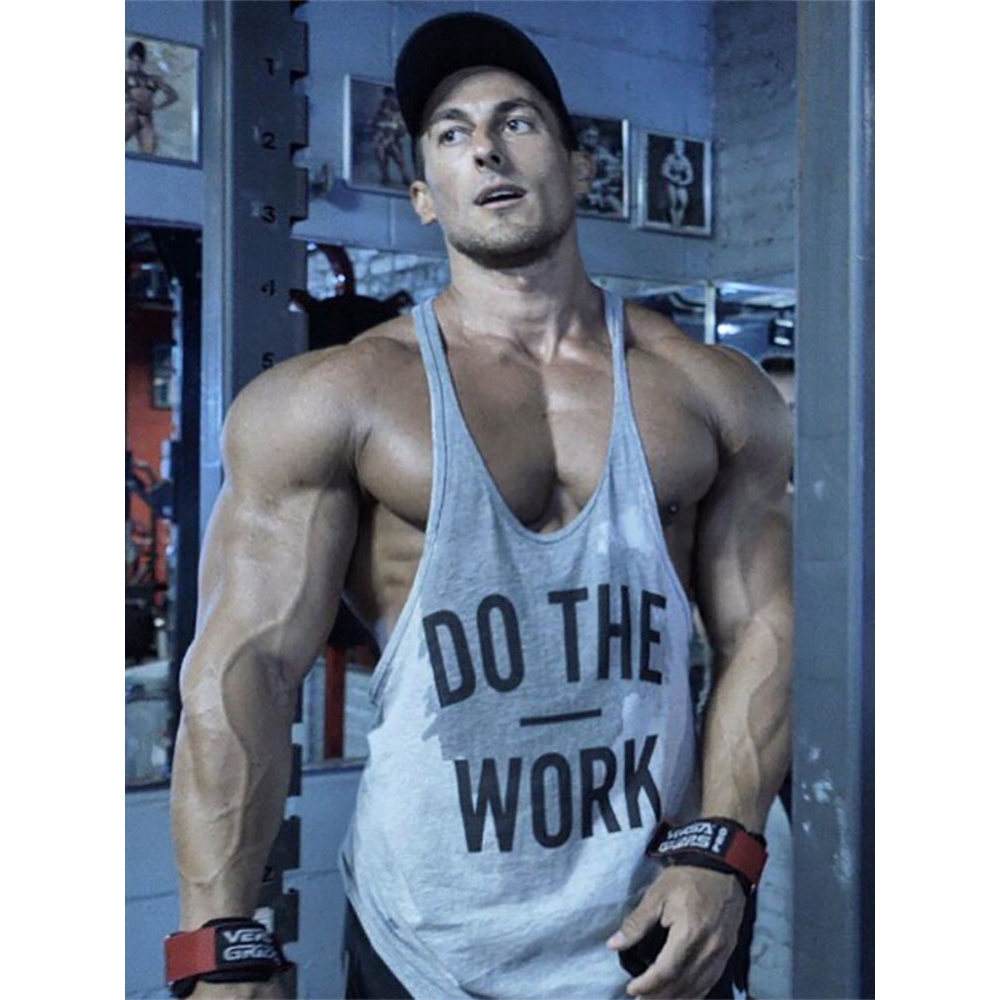 Oops Outlet Mens Branded Dont Cotton Gym Training Sports Fitness Tank Top Sleeveless Vest