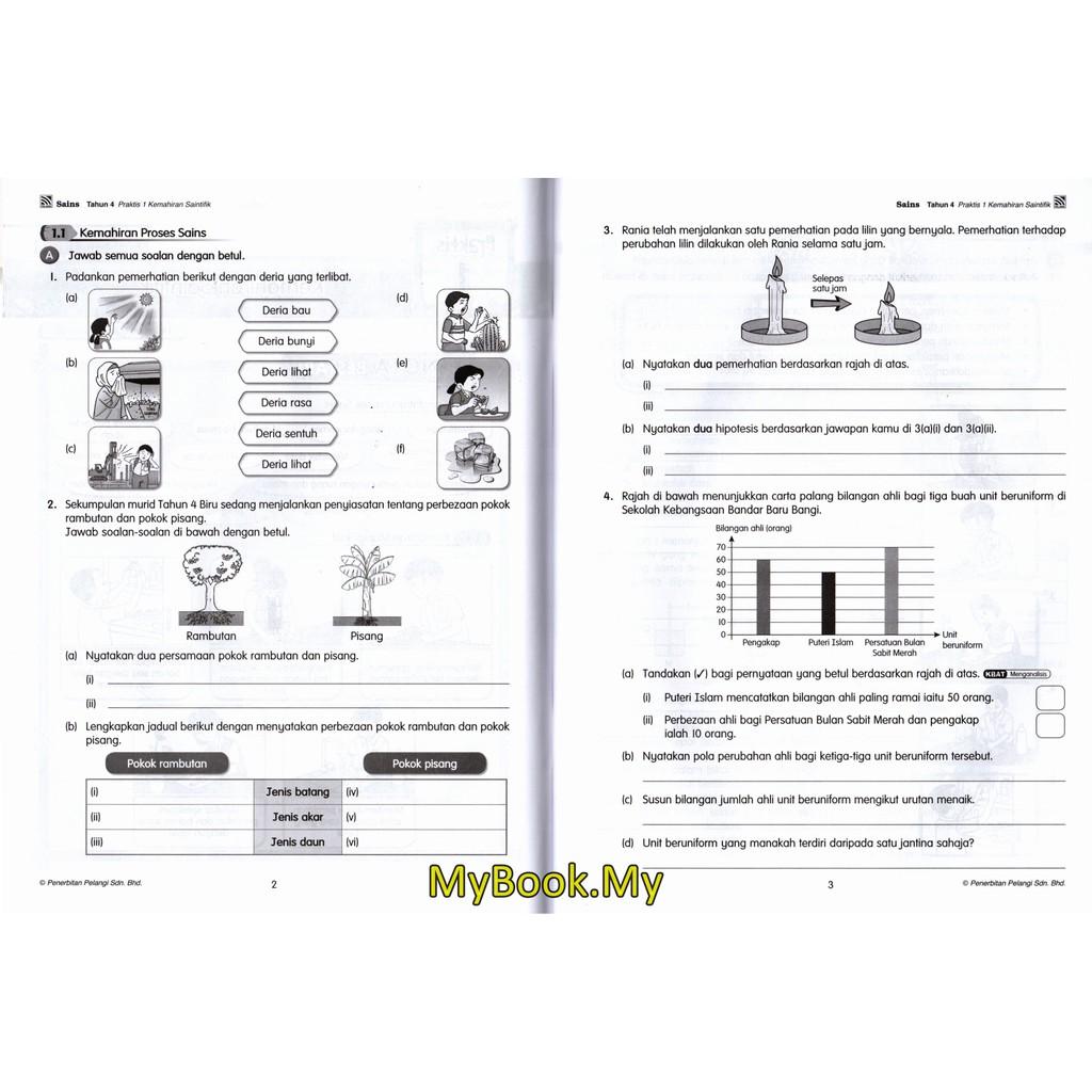 Myb Buku Latihan Praktis Kssr Sains Tahun 4 Pelangi Shopee Malaysia