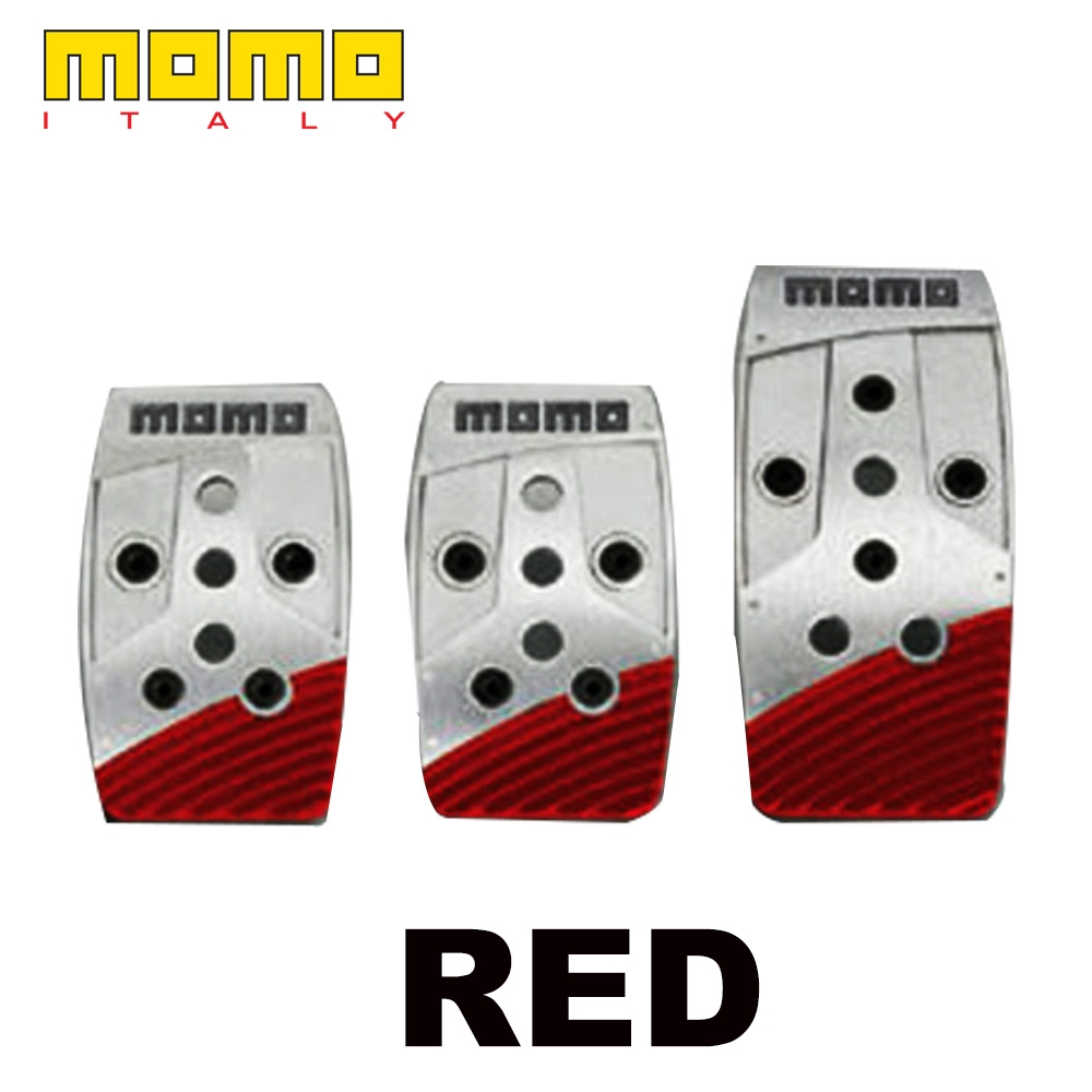 Momo Stealth Manual Pedal Kit Italy - Blue/Red