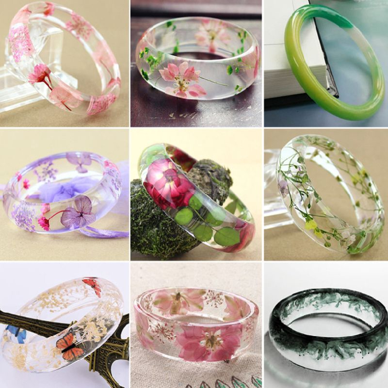 4PCS Assorted Design Resin Bracelet Silicone Mold Faceted Geometric Bangle Bracelet Jewelry Silicone Mold or Polymer Clay Crafting
