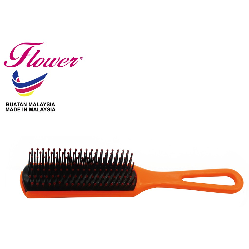 Flower Brush CF Colour with Ball Tips Hair Styling Made in Malaysia (Sikat/Berus Rambut/Balung/Sisir)