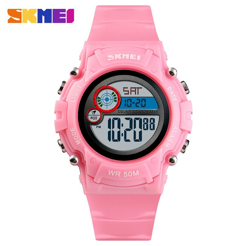Skmei Colorful Kids Watch Boys Girls Gift Sport Running Exercise Outdoor Children Wristwatch Water Resistant Digital Clock 1460 Watches