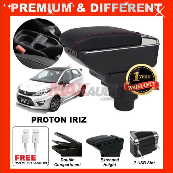 [FREE GIFT Gift] PROTON IRIZ 2014 - 2020 COMFORT ADJUSTABLE ARMREST 7 USB PORT