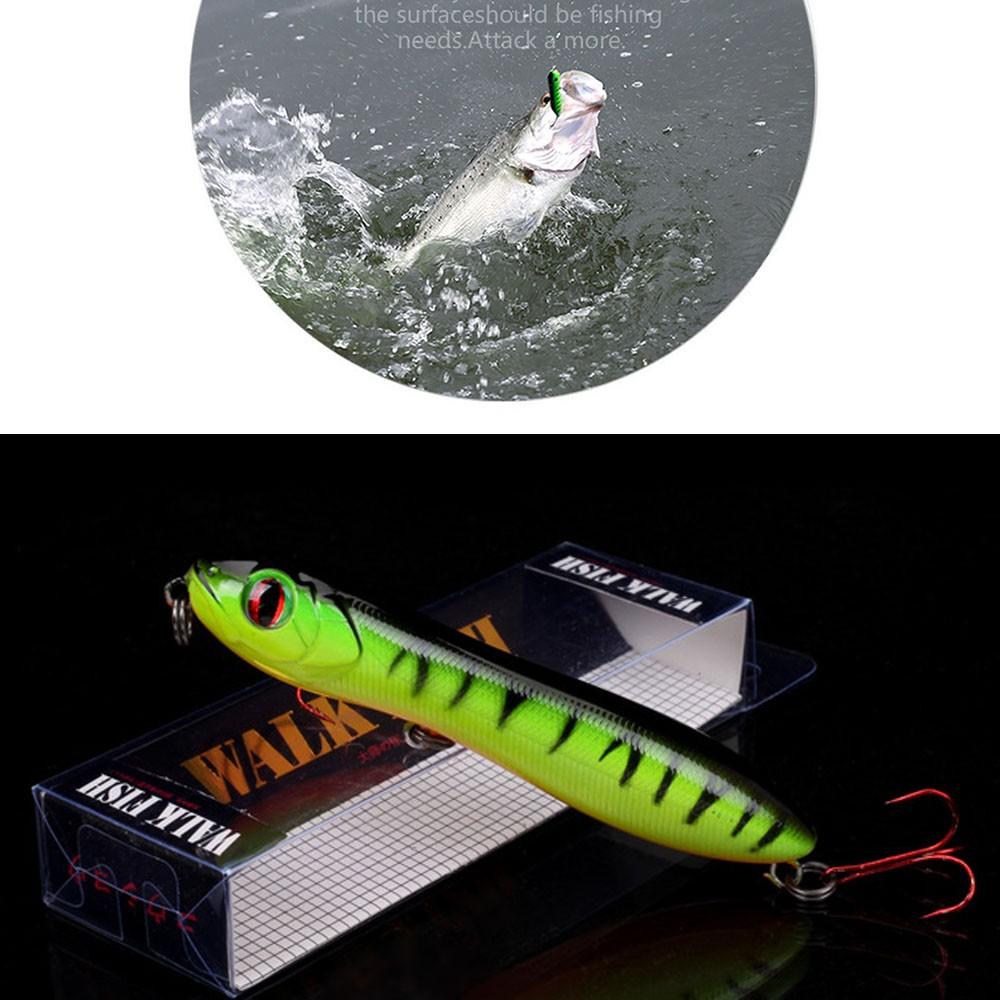 Eyes 10cm 14 8g Floating Crankbait Pencil Fishing Lure Popper Bait Snake  Head