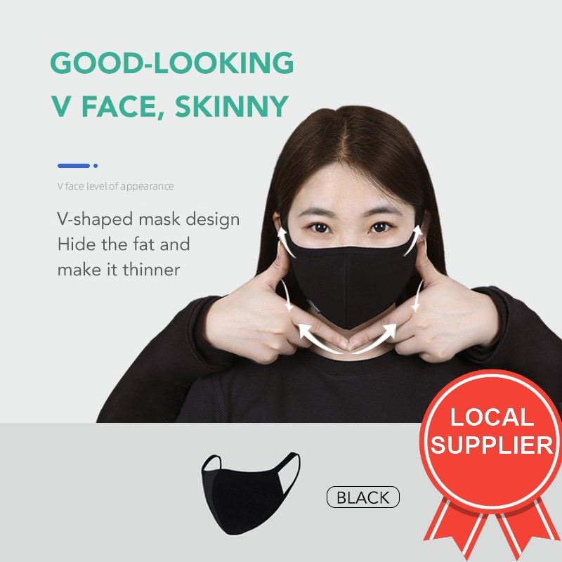Buy 1 FREE 1 Cotton Washable Thick Korean Fashion Anti-Dust  HAZE Cotton Mouth Face Respirator Mask Elegant Comfortable