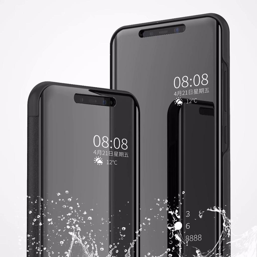 Mirror Flip Leather Clear View Smart Phone Cover Case For Xiaomi Mi 8 SE  8SE mi8