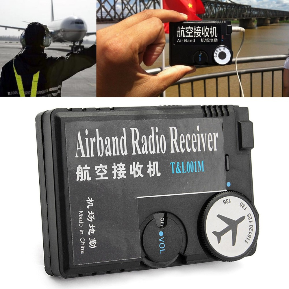 T&L001 118MHz-136MHz AAA Air Band Radio Receiver Band For Airport