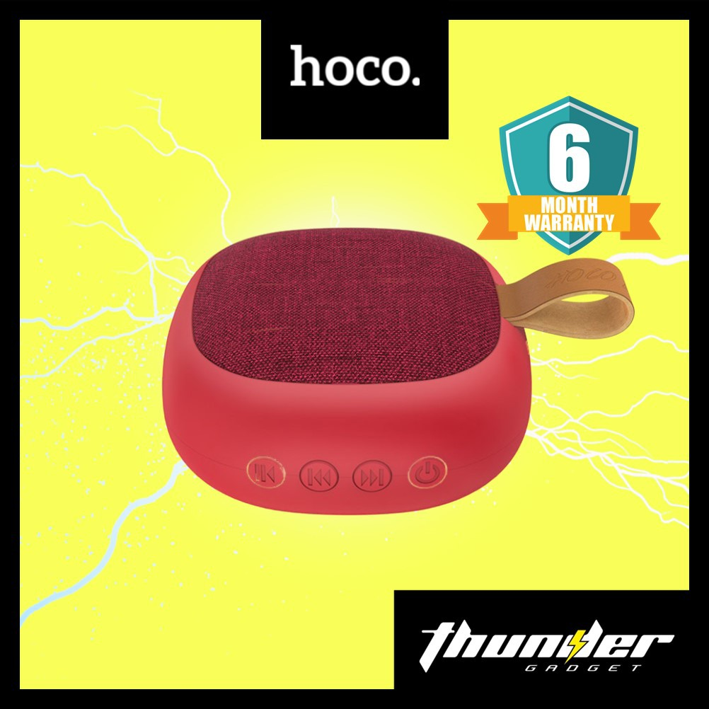 HOCO BS31 Portable Outdoor Loudspeaker Wireless Mini Column 3D Stereo Music Surround Bass Box (Red)