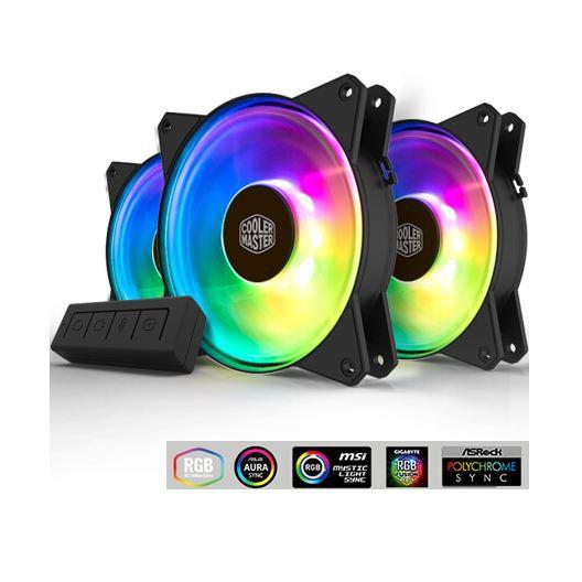 Cooler Master 5V addressable RGB SYNC MasterFan 120mm fan MF120R ARGB 3IN1