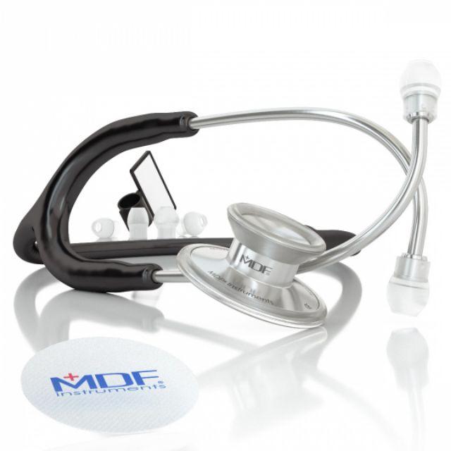 MDF® Acoustica® Lightweight Dual Head Stethoscope (MDF747XP)  BLACK