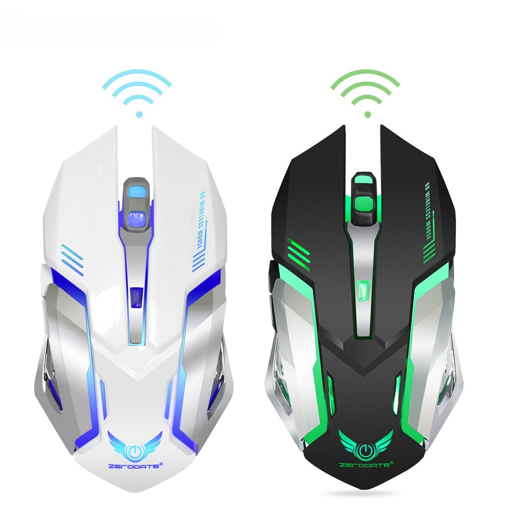 2.4G Wireless Mouse Rechargeable Gaming Mouse 2400dpi Light Up Gaming Mouse Color : A