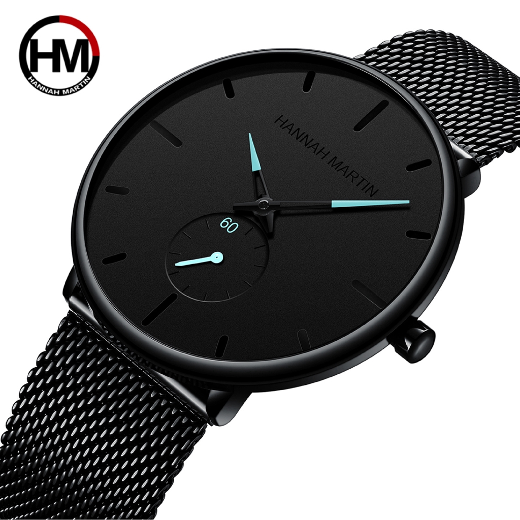Stylish handsome men's quartz watch Japanese movement waterproof