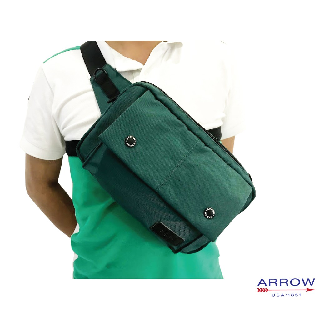 💼 Arrow Casual Fashion Microfiber Crossbody Men Chest Bag & Men Waist Bag 💼 (2 use)