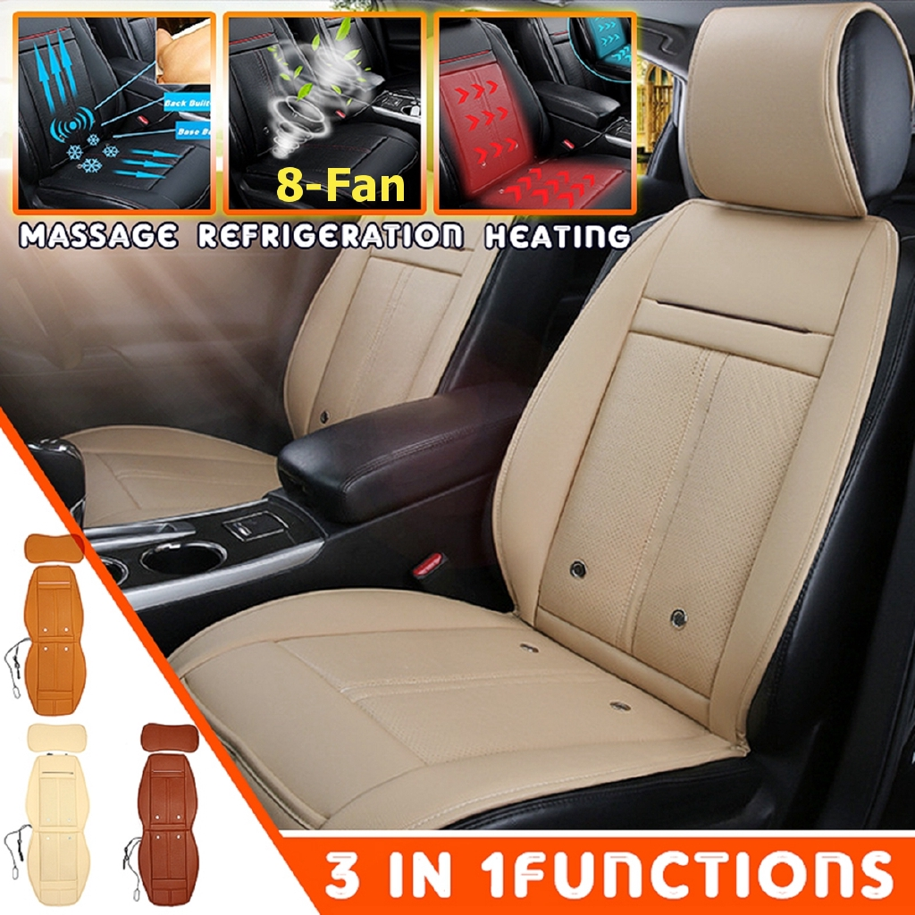 3 In 1 Car Seat Cover Cushion Cooling /& Warm Heated /& Massage Chair Universal