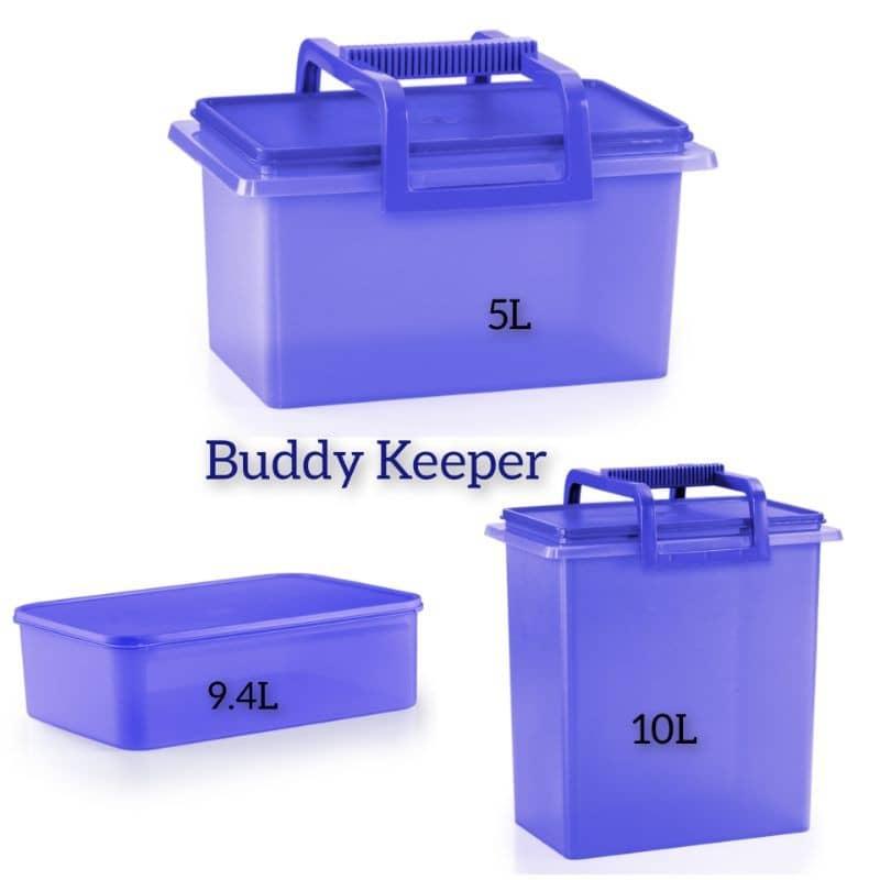 Tupperware Buddy Keeper with Handle Set of 3  ( 5.0L / 10.0L / 9.4L ) 1 set 3 pcs-READY STOCK