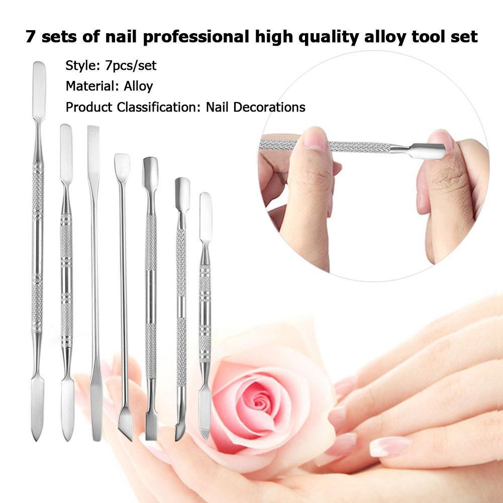 ❤BeautYou❤7pcs Nail Art Pusher Stick Cutter Cuticle Pusher Dead Skin Remover