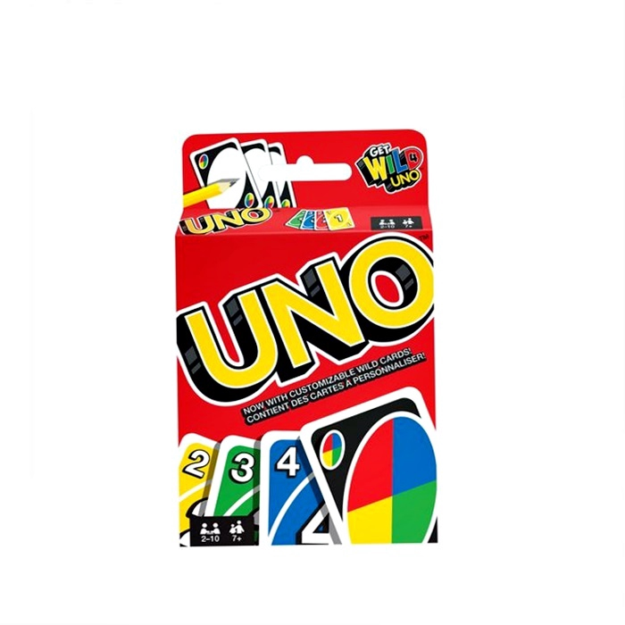 Kad Uno Game Cards With Customizable Wild Card