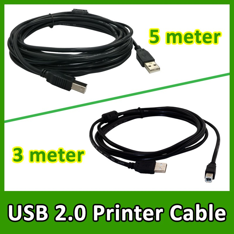 USB 2.0 High Speed Printer Cable A to B Male (3m/5m)
