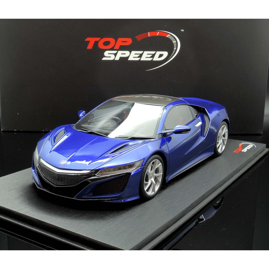M A S H Tsmpe Tops 1 18 Acura Nsx 2017 Blue Right License Shopee Malaysia