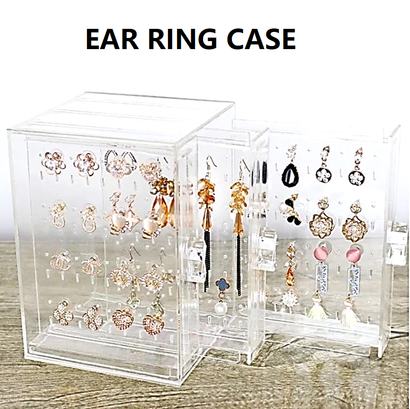 3 Layers Jewellery Organizer Box Ear Ring and Necklace Chain Case Display Rack